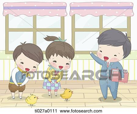 Clipart of student greeting to the teacher ti027a0111 search clip clipart student greeting to the teacher fotosearch search clip art illustration murals m4hsunfo
