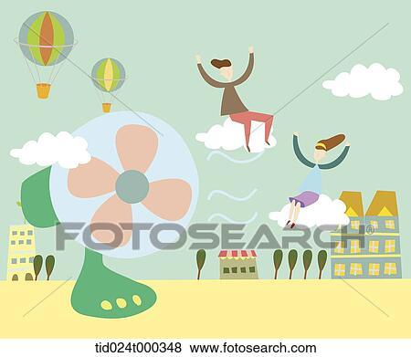 イラスト の 扇風機 イラスト Tid024t000348 Fotosearch