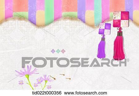 Vintage luxury floral background korea template powerpoint free ppt template illustration of korean norigae toneelgroepblik Images