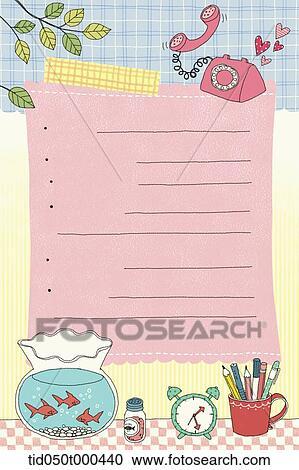 イラスト の 日記 テンプレート 役割を果たす メモ ページ クリップ