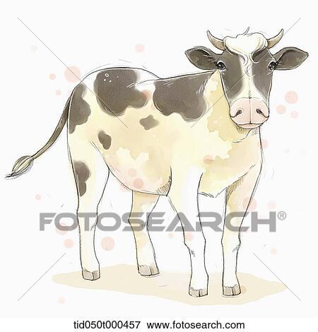 イラスト 絵 の 牛 イラスト Tid050t000457 Fotosearch