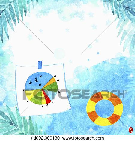 stock illustrations of illustration memo template of under the sea