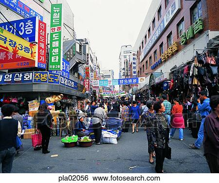 Stock Images Of Namdaemun Market Day Oriental Shop Store Person