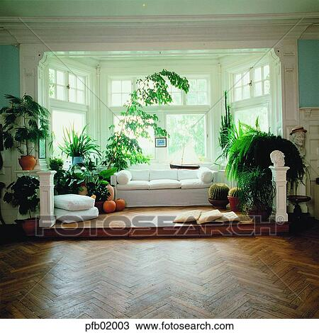 Boden Möbel Haus Wohnsitz Wohnzimmer Boden 0877 Stock Foto