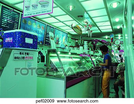 Oriental Shop Construction Building Store Person 0813 Stock