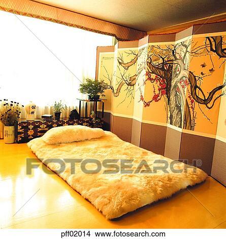 Stock Foto - vouwend scherm, bedclothes, beddengoed, slaapkamer ...