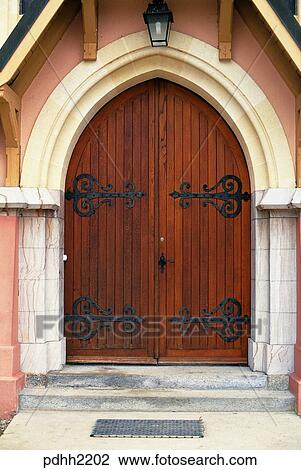 Nations Wooden Gate Front Day
