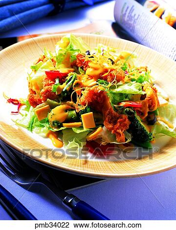 Stock Photo Of Chicken Salad Chicken Food Chicken Dish Western