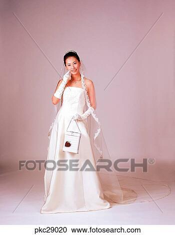 Bag Suitcase Marriage Oriental Dress Model Bouquet