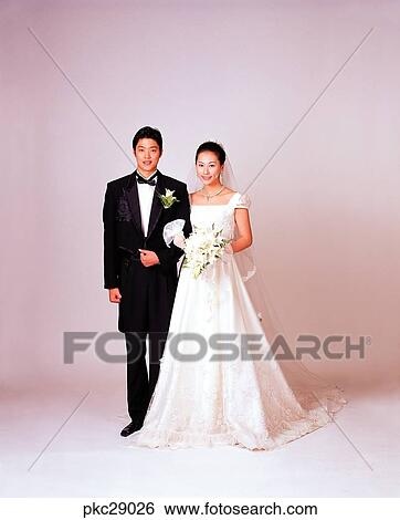 Marriage Photo Wedding Ceremony Man And Woman Men Women Male Female Oriental