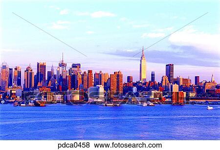 モデリング, ニューヨーク, 建物, 建物, マンハッタン, 構造, アメリカ 写真館、イメージ館
