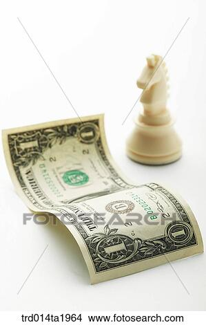 Business Money Paper Foreign Currency Dollar Horse Chess