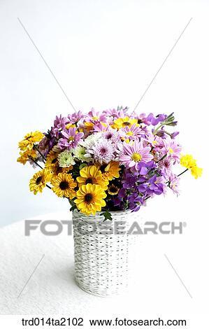 Stock Photo Of Chrysanthemum Decoration Flower Vase Flower Plant