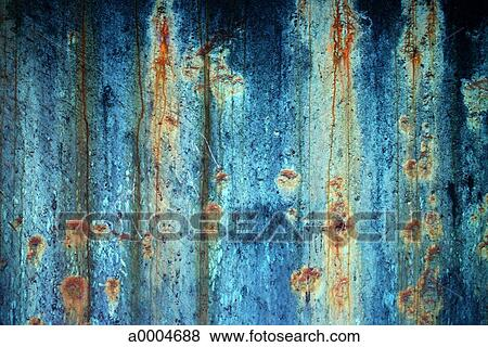 Pictures of blue metal paint rust texture cyan a0004688
