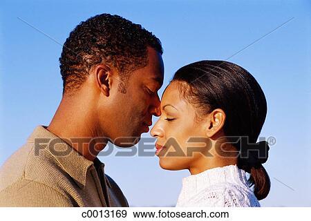 Amour Couple Profil Relation Dehors Femme Banque De Photo