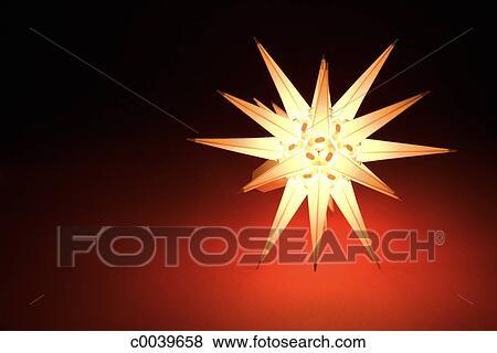 Moravian Star Lamp Stock Photo