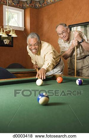 Pictures Of Elderly Men Playing Pool D0003418 Search