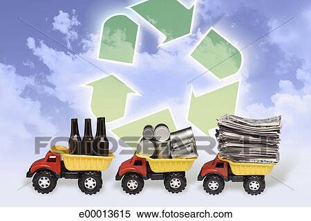 Coleccion De Imagen Reciclaje De Simbolo Carros Del Juguete