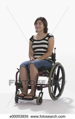 stock image of teenage girl in wheelchair e00003935 search stock