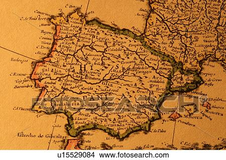 Map Of Spain Old.Old Map Of Spain Picture
