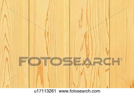 Japanese cedar wood planks Stock Image
