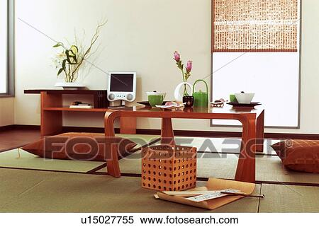 Japanese-style living room Stock Photography
