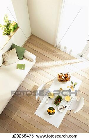 Terrific Meal On Table Next To Sofa Stock Photography U29258475 Uwap Interior Chair Design Uwaporg