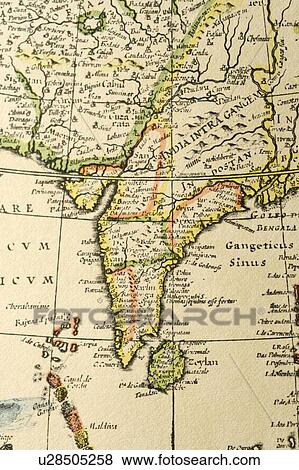Old Map Of India Pictures U28505258