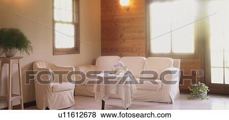 Immagini - soggiorno, con, divano, e, tavolino da caffè u11612678 ...