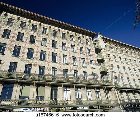 Wagner's apartments, Vienna, Austria Stock Photograph ...