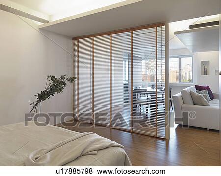 Beelden - gedeelte van een bereik, scheiden, slaapkamer, van ...