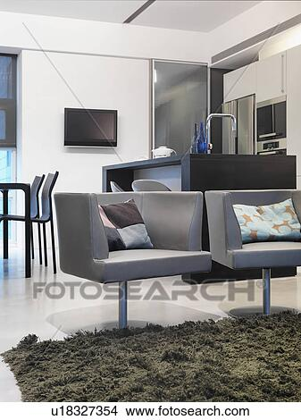 Stock Foto - hippe, emmer, stoelen, in, woonkamer u18327354 - Zoek ...