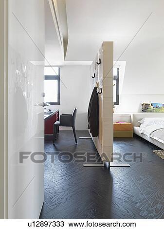 Stock Foto - kamer, gedeelte van een bereik, scheiden, slaapkamer ...