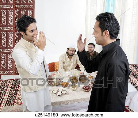 Stock photography of muslim men greeting each other u25149180 muslim men greeting each other m4hsunfo