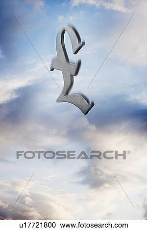 Stock Photography Of British Pound Symbol Floating Amongst The