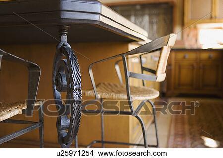 Colección de foto - decorativo, hierro forjado, detalle, en, cocina ...