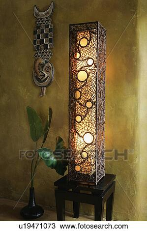 Stock Photo Tall Decorative Floor Lamp Fotosearch Search Images Poster Photographs