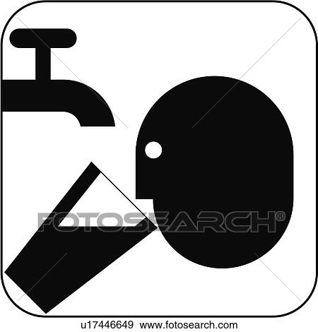 Stock Photograph Of Drinking Water Symbol Artwork U17446649