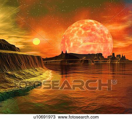 Stock Photo of Alien planet, artwork u10691973 - Search ...