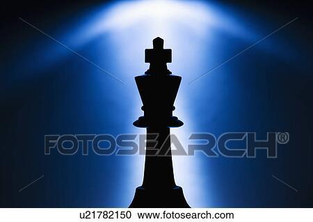 Stock Fotografie - beleuchtetes, koenig, schachfigur. Fotosearch - Suche Stockfotografien, Fotos, Wandbilder, Bilder und Foto Clipart