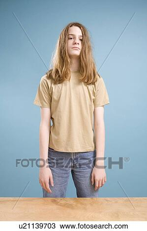 stock photo of teen boy with long hair u21139703  search