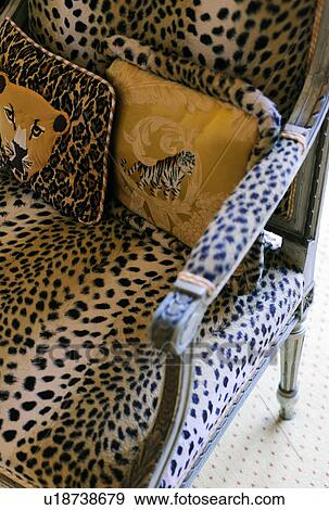 Armchair With Leopard Print Stock Photo U18738679 Fotosearch