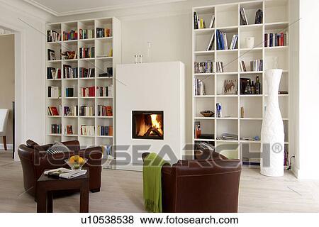 Immagini - soggiorno, con, poltrone, camino u10538538 - Cerca ...