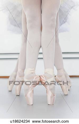 Ballet Dancers Feet On Pointe Picture U18624234 Fotosearch