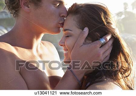 a man kissing