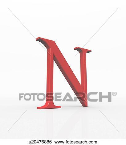 希腊数字素材_Nu, 是, the, 第13, 信件, 在中, the, 希腊人, alphabet., 在中, the, 系统 ...