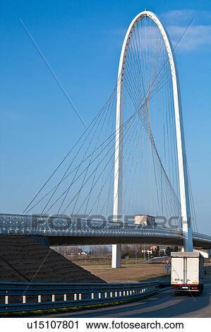 Stock Fotografie Reggio Emilia Brücke Per Calatrava