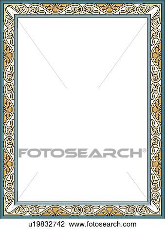 clipart of art nouveau border u19832742 search clip art