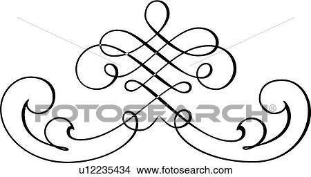 clipart of black and white fancy line art u12235434 search clip rh fotosearch com fancy line dividers clip art