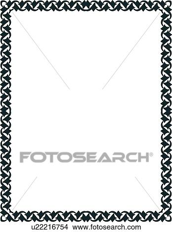 clipart of black modern border u22216754 search clip art rh fotosearch com modern clipart free download modern clipart images